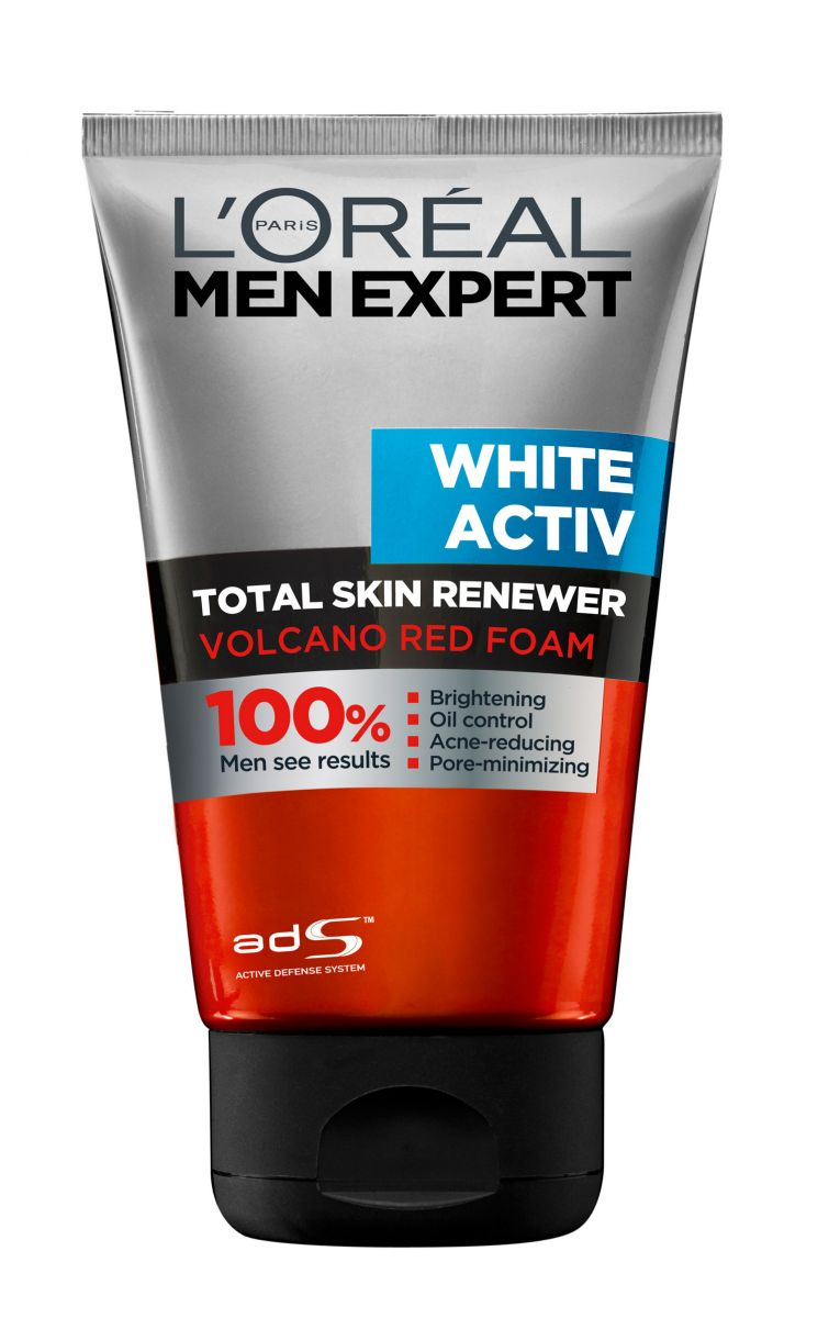 Retain your youthful skin by cleansing your face with L'OREAL Paris Men Expert White Activ Volcano Red Foam Face Wash that is a solution to all your skin ...