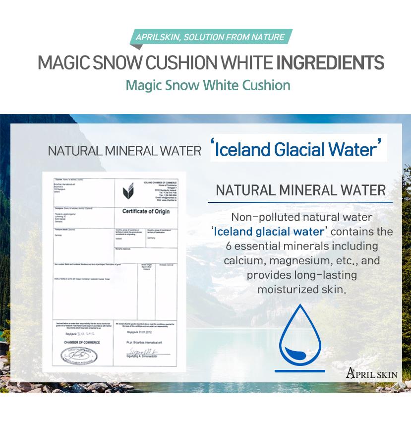 Skin magic snow cushion white 3 shades to choose hermo online