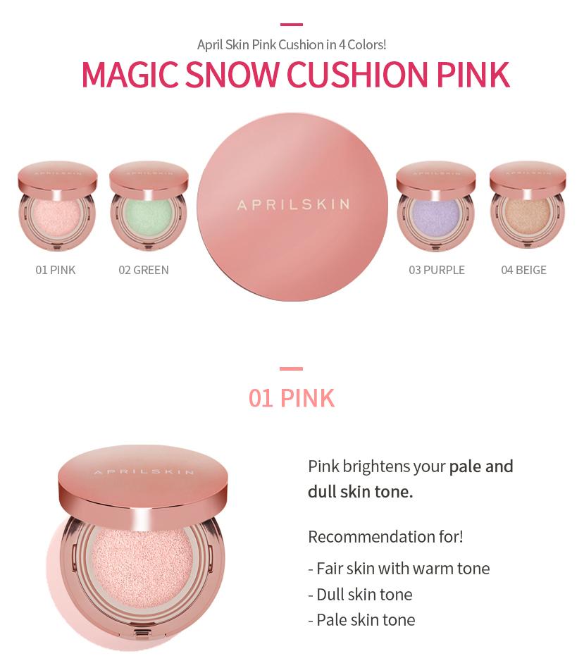 April Skin Magic Snow Cushion Colors