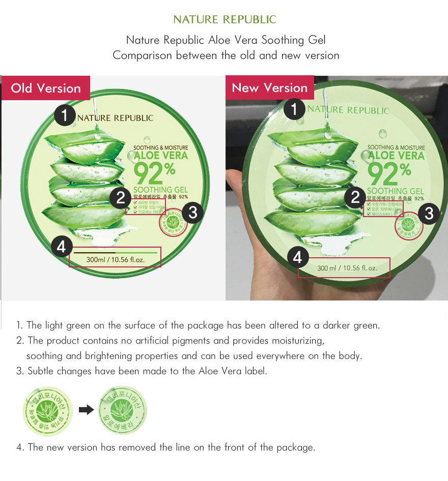 Nature republic soothing and moisture aloe vera 92 soothing gel 300ml - At The Last Step Of The Basic Skincare Routine In The Morning And At Night Time Apply An Appropriate Amount On The Face