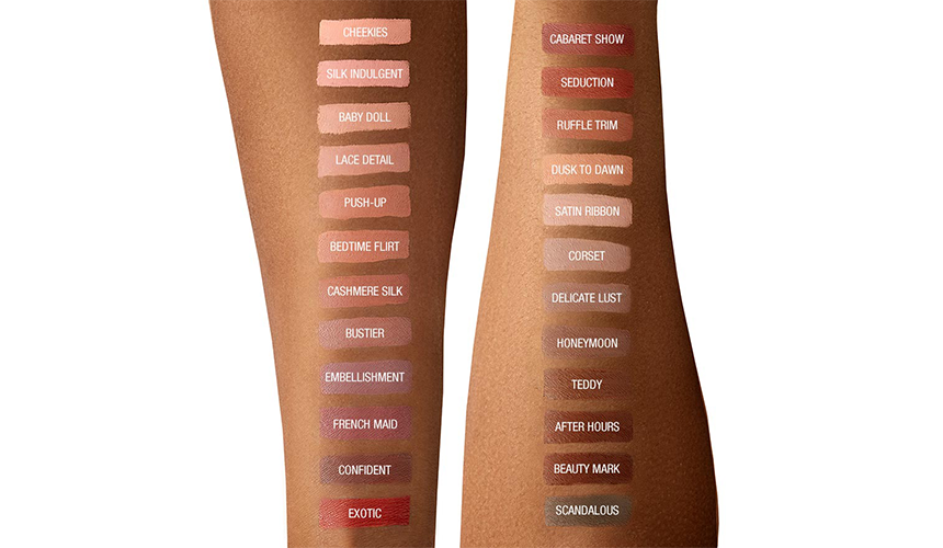 451f962863f66 #Exotic - Warm mahogany red #Honeymoon - Grey toned beige #Lace Detail -  Nude pink beige #Push-Up - Brown spice pink #Ruffle Trim - Cinnamon pink