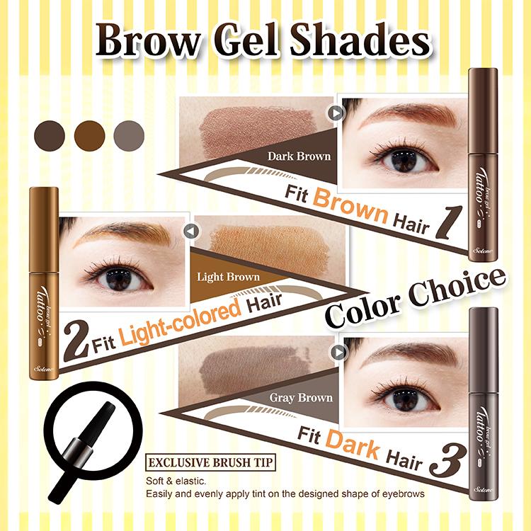 Solone Tattoo Brow Gel 3ml 02 Light Brown Hermo Online Beauty