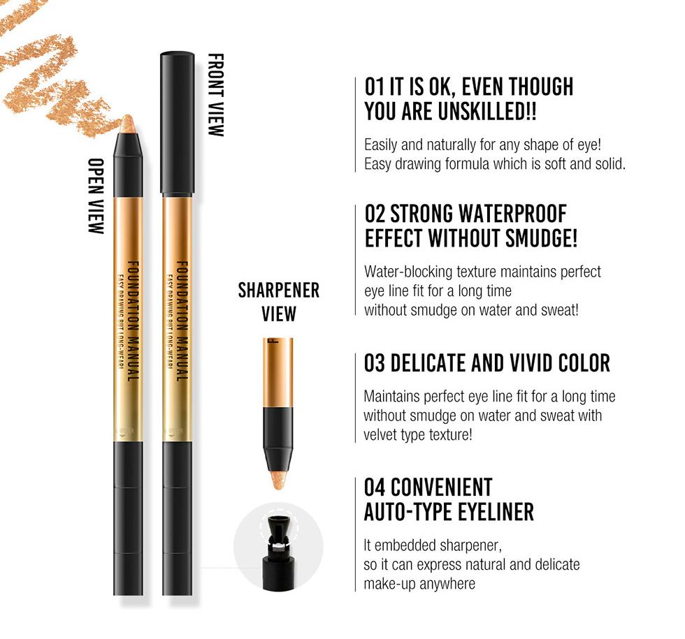 FM Makeup EDBL Eye Liner 0.5g [5 Types To Choose]