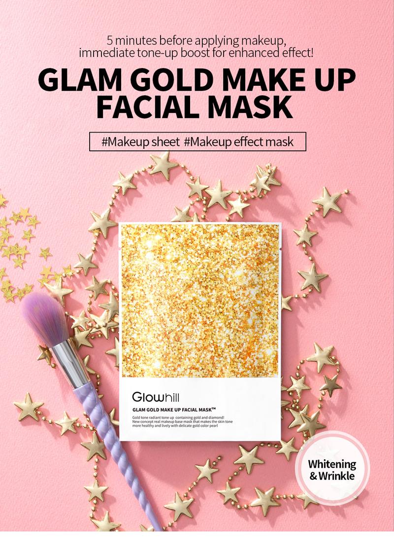 Glowhill Glam Make Up Facial Mask 10pcs [2 Types To Choose]