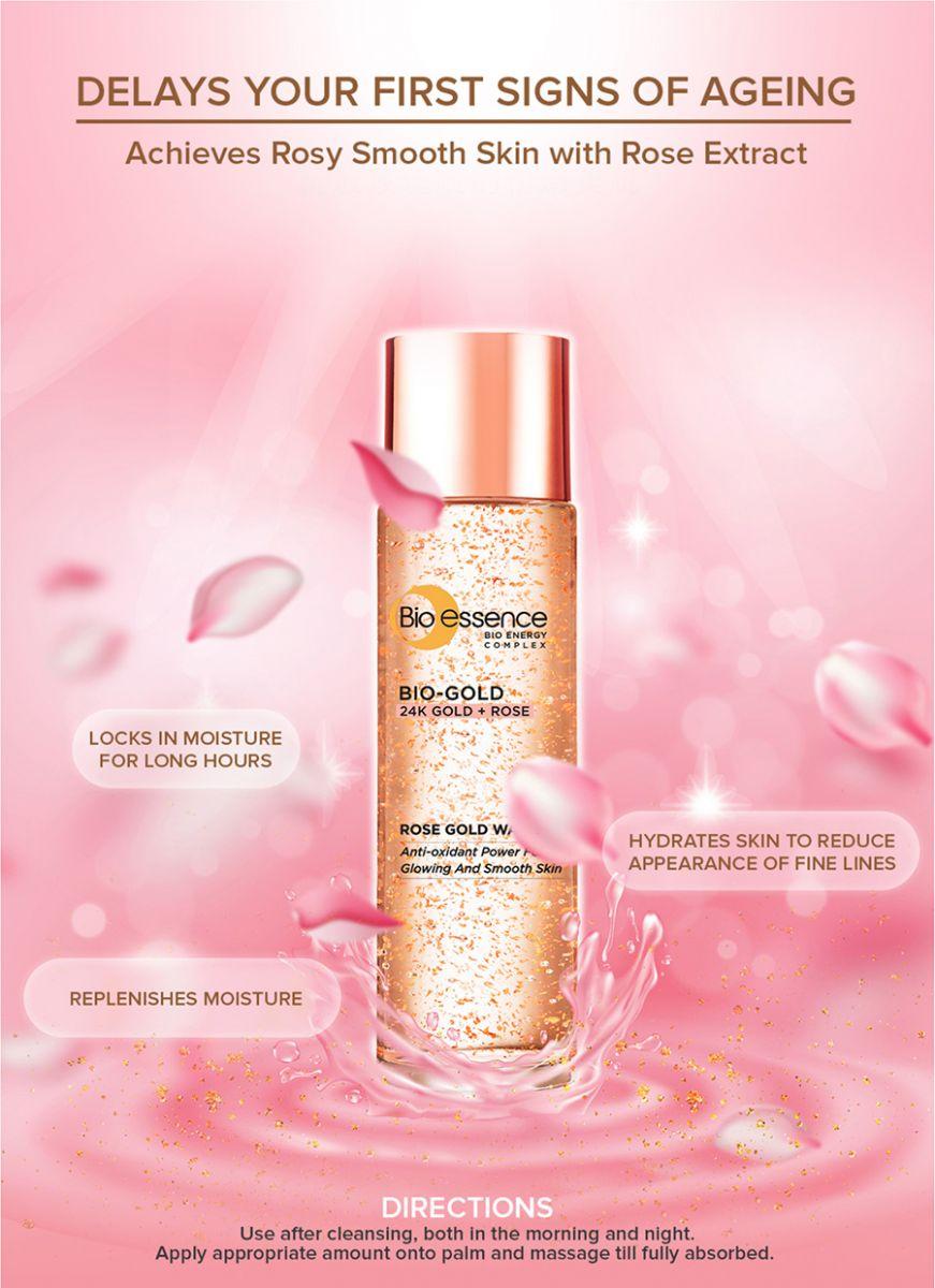 Bio-Essence Bio-Gold Rose Gold Water 100ml   Hermo Online Beauty Shop  Malaysia