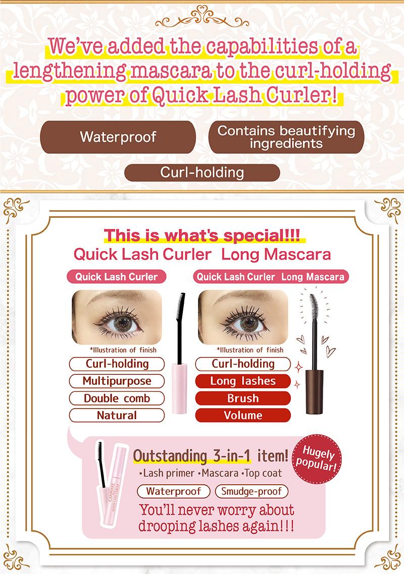 Canmake Quick Lash Curler Long Mascara