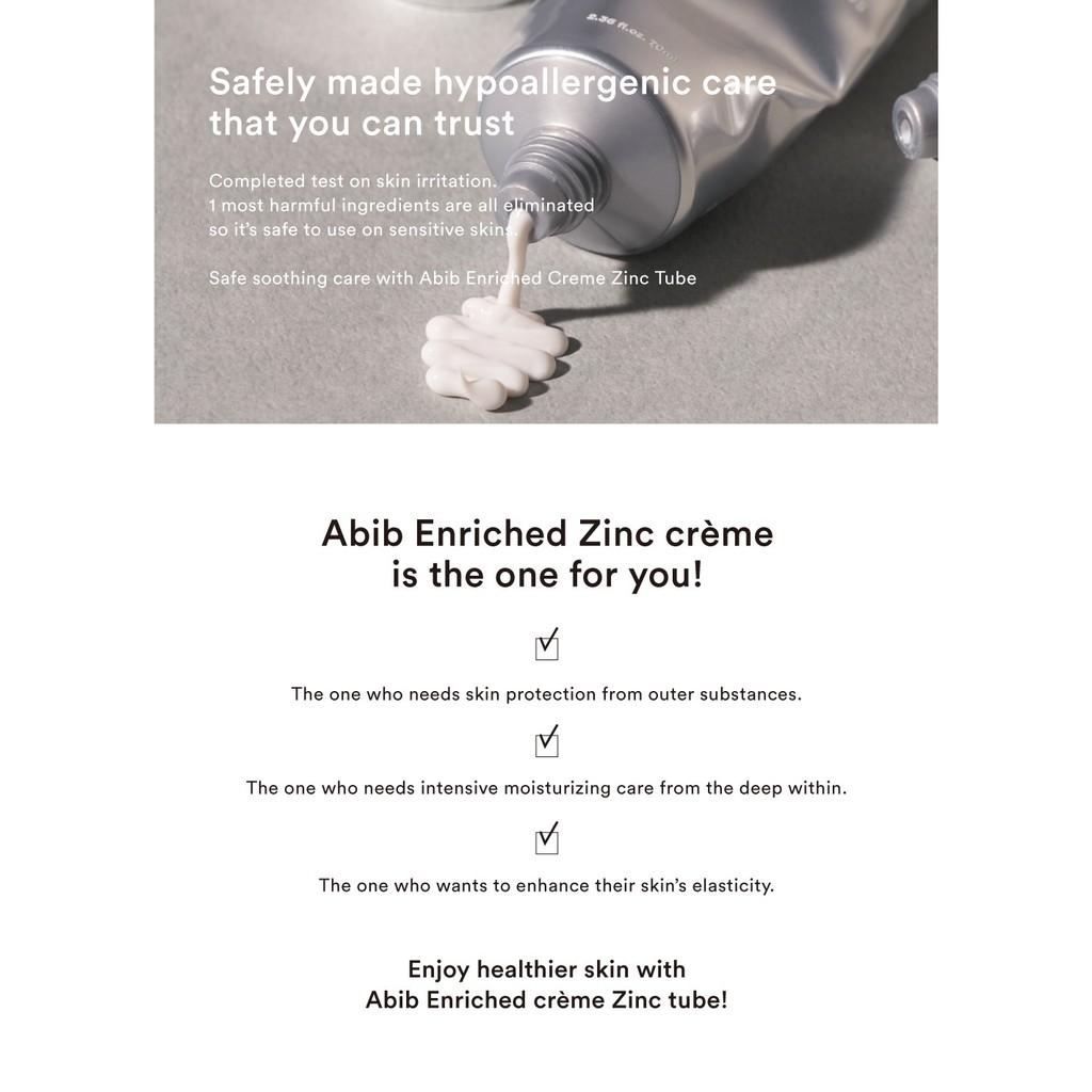 Abib Enriched Creme Zinc Tube 70ml