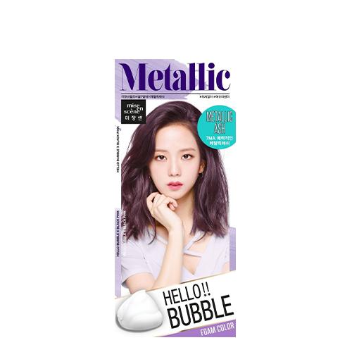 Mise En Scene Hello Bubble Hair Color #7MA Metallic Ash