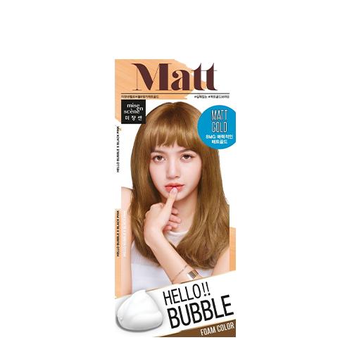 Mise En Scene Hello Bubble Hair Color #8MG Matte Gold