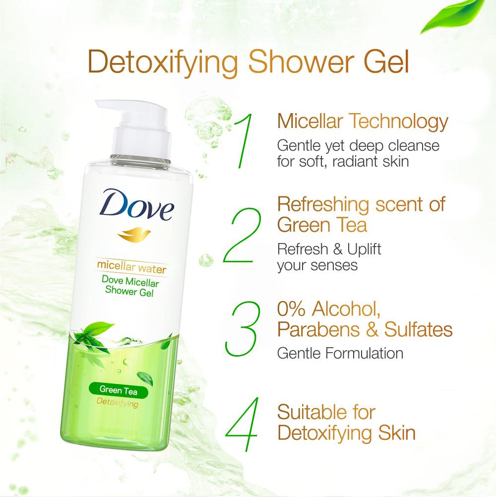 Dove Micellar Shower Gel Detoxifiying 500ml