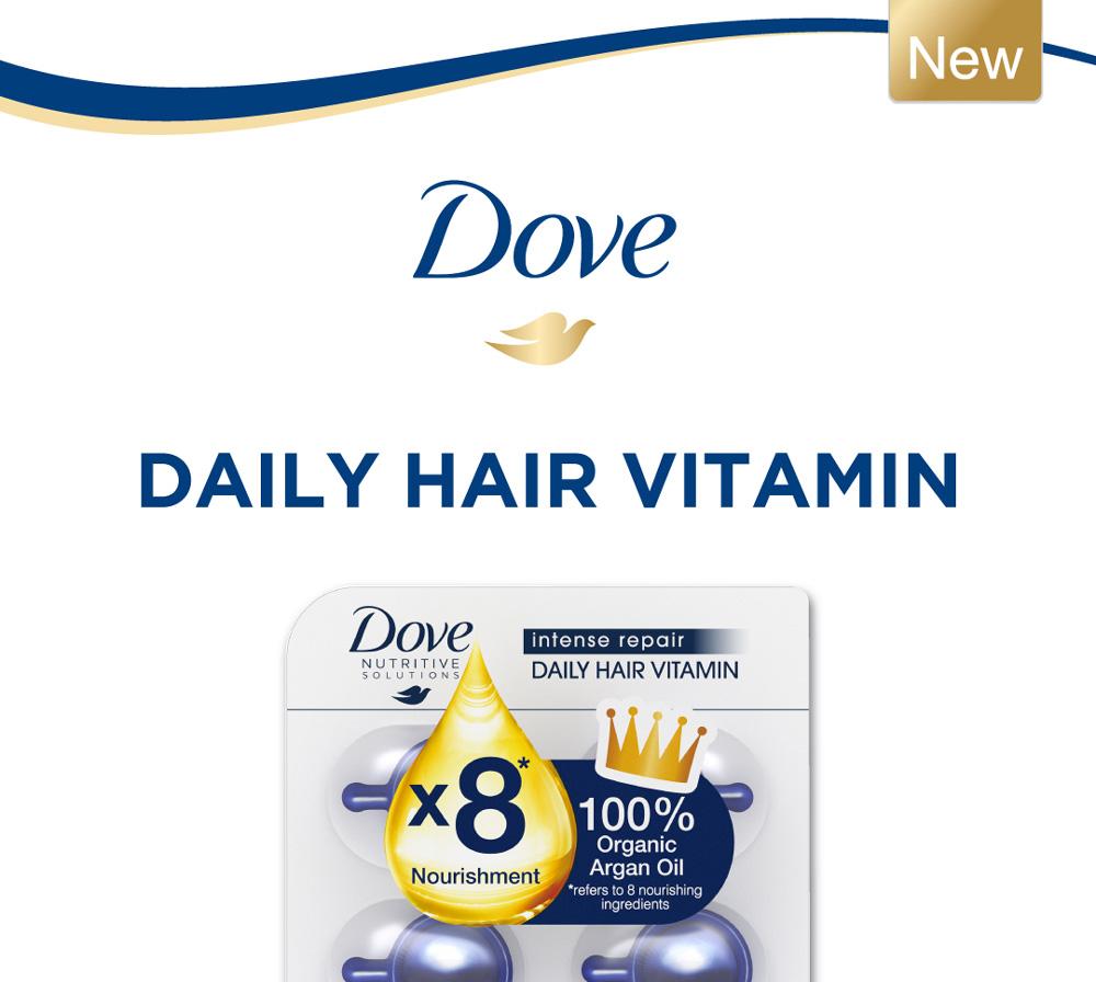 Dove Intense Repair Daily Hair Vitamin 6x1ml