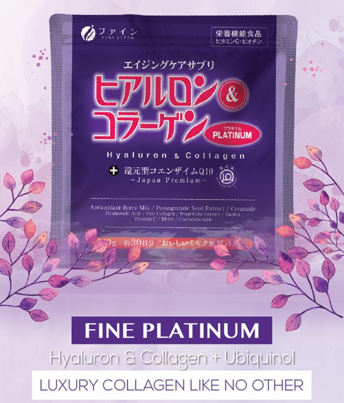 Fine Platinum Hyaluron & Collagen + Ubiquinol 240g