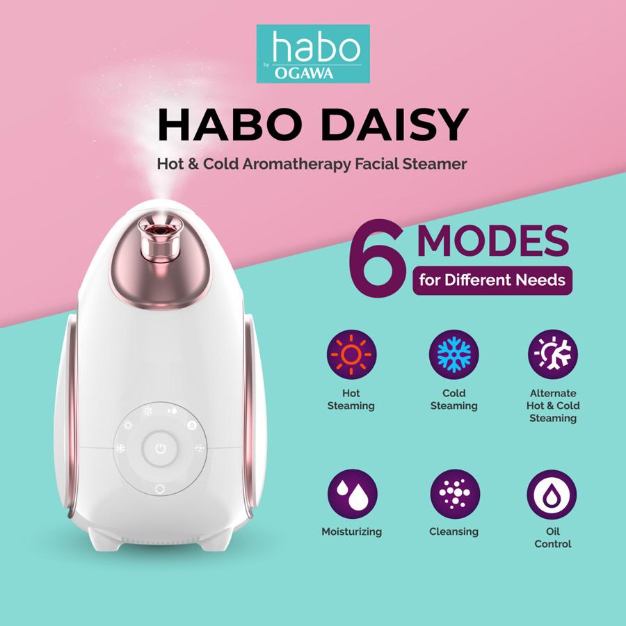 Ogawa Habo Daisy Hot & Cold Aromatherapy Facial Steamer