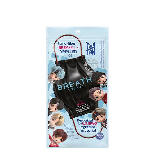 [BTS Tinytan Edition] Breath Square Mask 3pcs #Black