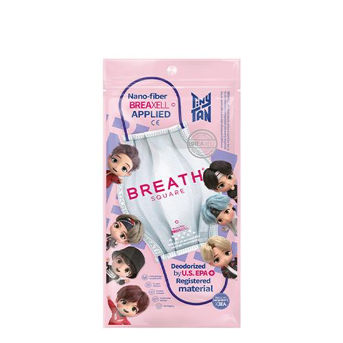 [BTS Tinytan Edition] Breath Square Mask 3pcs #White