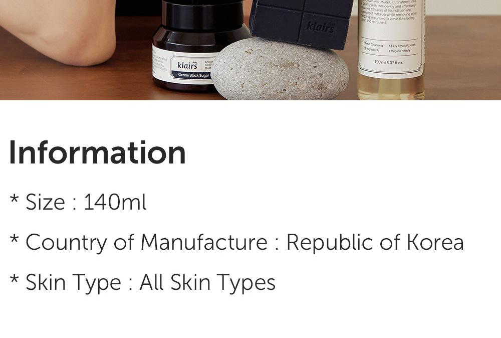 Klairs Gentle Black Facial Cleanser 140ml