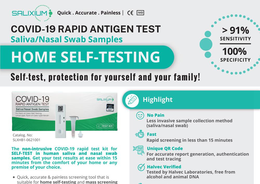 Salixium Covid-19 Rapid Antigen Home Test Kit 1pcs