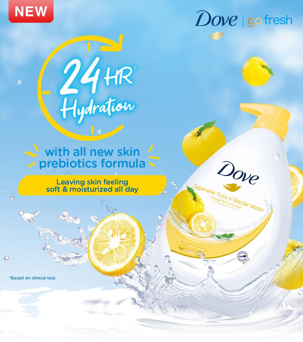 Dove Go Fresh Shower Gel Japanese Yuzu x Glacier Water